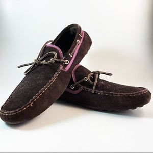 THOMAS DEAN SUEDE DRIVING SHOE SLIP ON LOAFER